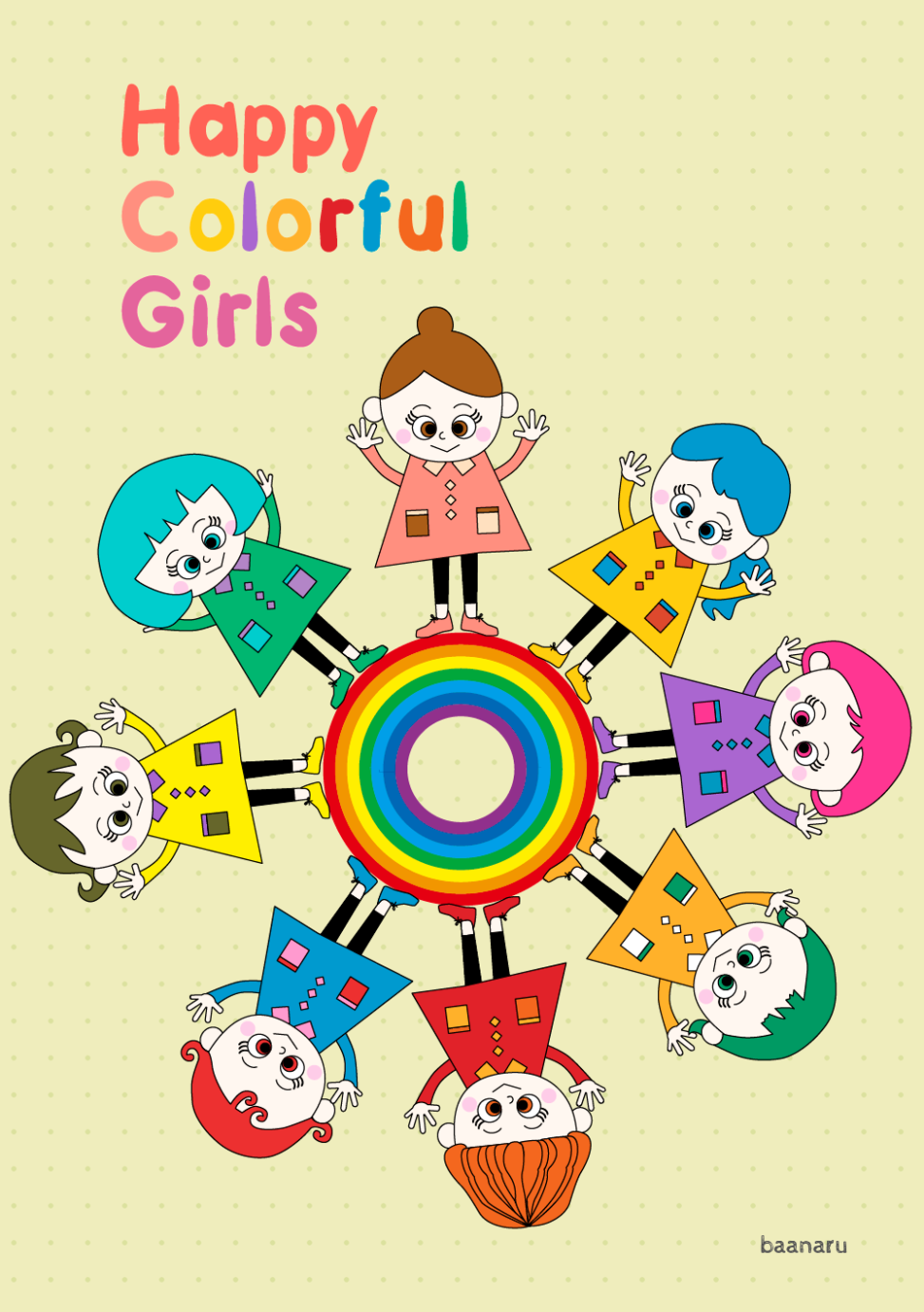 Happy Colorful Girls