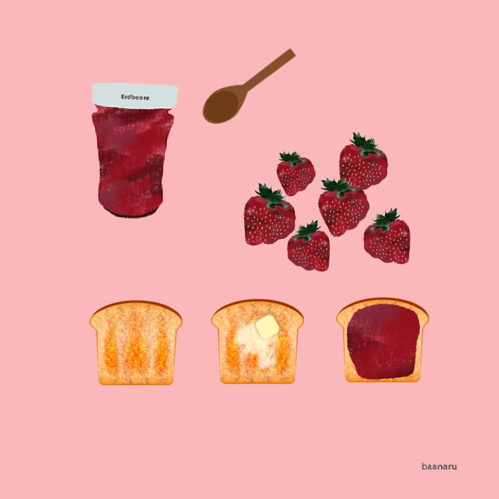 イチゴジャム&トースト