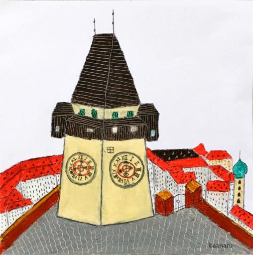 グラーツの時計塔