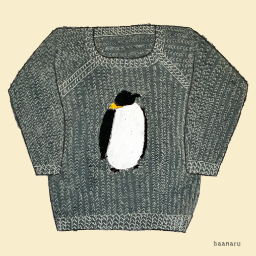 ペンギン柄のセーター